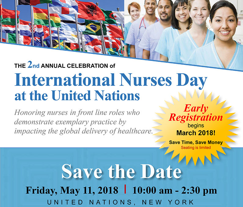 Honoring Nurses on International Nurses Day at the United Nations, May 11, 2018