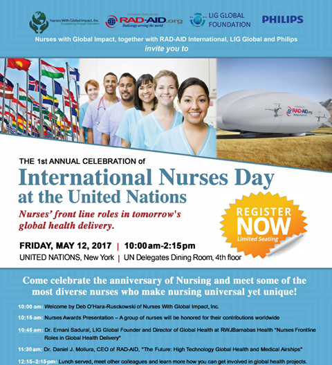 Honoring Nurses on International Nurses Day at the United Nations, May 12, 2017